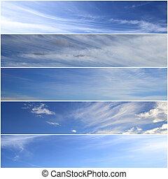 Set of horizontal sky banners
