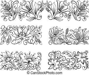 symmetric floral patterns