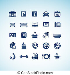 Set of hotel icons - Set of vector hotel icons
