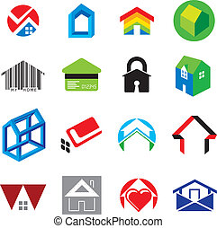 Set of House and Home Concept Icons