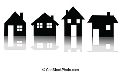 Set of house icon vector