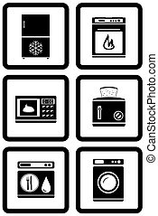 set of household appliances for home