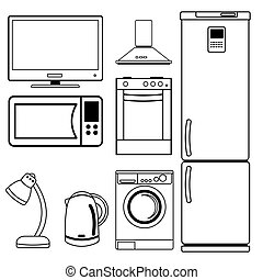 Set of household appliances.