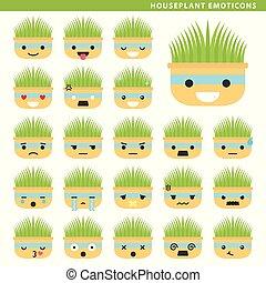 houseplant emoticons