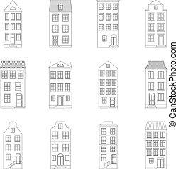 Set of houses, vector illustration
