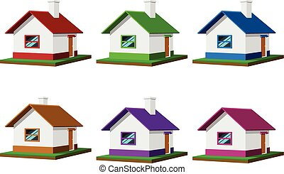Set of houses vector illustration