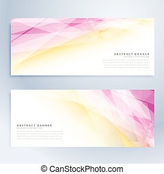 set of howrizontal banners with abstract shapes