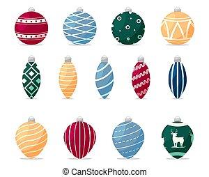 Set of hristmas decorations