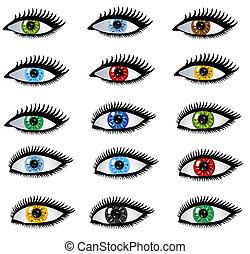 set of human eyes