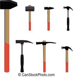 Set of hummer tools useful for buildings concept