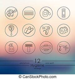 Set of hygiene icons