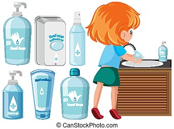 Set of hygiene products