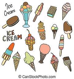 Set of ice-cream.
