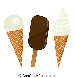 Set of ice cream, vector