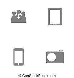 Set of icon for Infographic template design vector illustration