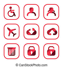 set of icon, vector