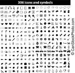 Set of icons and symbols