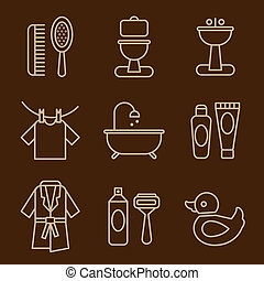 Set of Icons Bathroom