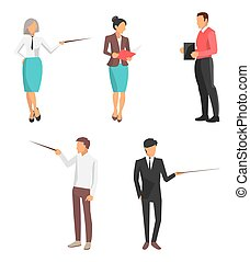 Set of Icons Business People Vector Illustration