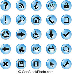 Set of icons, buttons