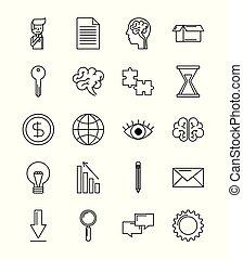 set of icons creative idea business concept