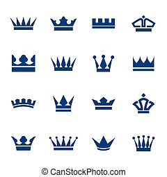 Set of icons crowns