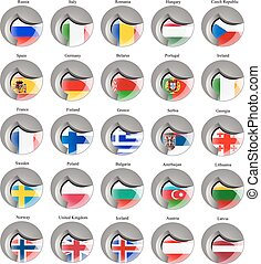 Flags of the Europe