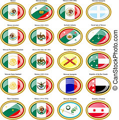 Flags of the Mexico.