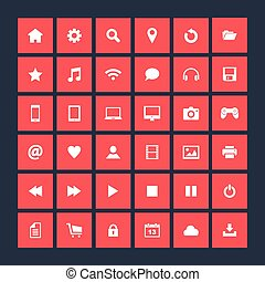 Set of icons, flat design