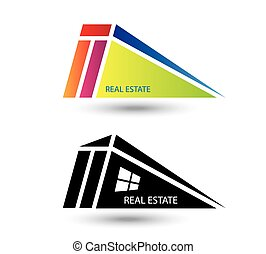 Set of icons for real estate business on white background