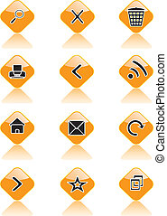 Set of icons for sites, browsers