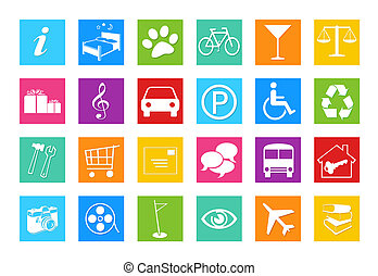 Set of icons for the Web