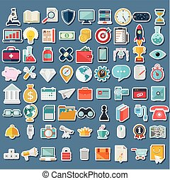 Set of icons for web and user interface design