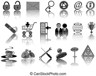 Set of icons for web design in a vector