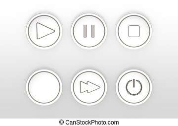 set of icons for web flat design outlines