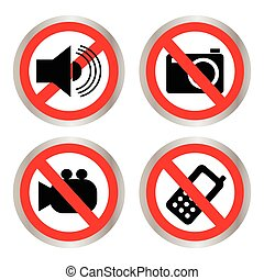 Set of icons forbidding