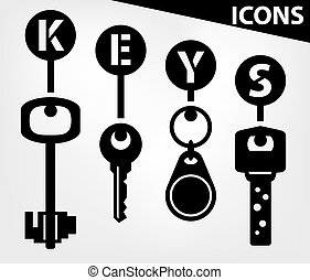icons of black keys