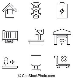 Set of icons on a white background. Vector illustration. EPS 10