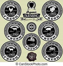 set of icons on the theme farm fresh