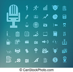 Set of icons Retina