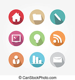 Set of icons -