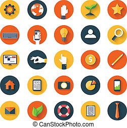 Set of icons - Set of business modern icons in flat style...