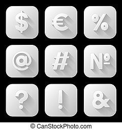 Set of icons. Signs and symbols