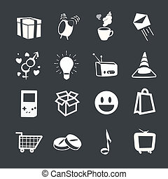 Set of icons. Vector design.