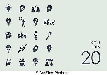 Set of idea icons