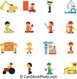 Set of illustration of professions