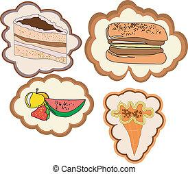 set of images of desserts