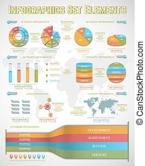 set of important objects of infographics for your design