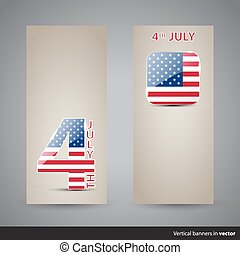 Set of Independence day cards