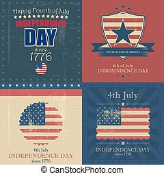 Set of independence day vector background